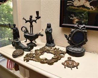 353. Vintage Cast Metal Figures Objects