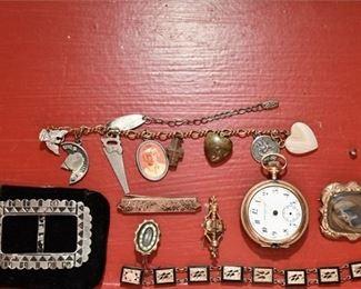 361. Womens Vintage Victorain Era Jewelry  Gold Pocket Watch