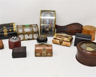8. Lot of Small Decorative Boxes WOODBRASSCOPPER
