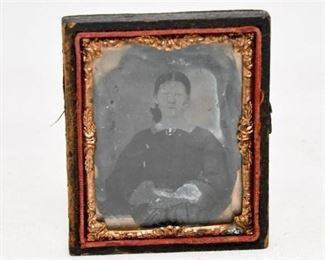 24. Antique Tintype of Woman