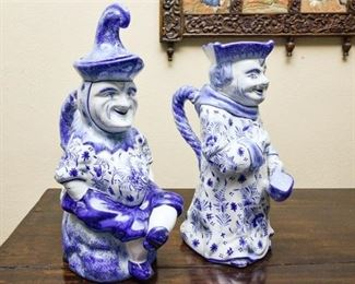 27. Pair of English Ceramic Figural TeaCoffee Pots