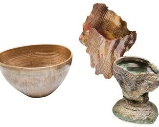 37. Three 3 Artisan Pottery Examples