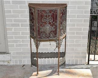 53. Victorian Cast Iron Side Storage Console