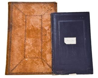 77. Two Antique Folders with Papers