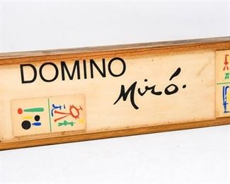 78. Artist JOAN MIRO Dominoes Gaming Set wBox