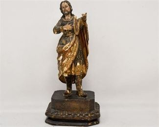 93. Carved and Hand Painted Statuette of Jesus