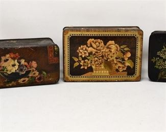 94. Three Antique Trinket and Candy Boxes