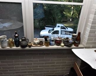108. Grouping of Pottery Including Local Artist Cindy Angliss
