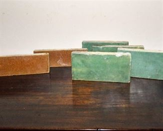 115. Nice Antique Group of Grueby Arts Crafts Ceramic Tiles