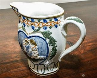 119. Small HandPainted Ceramic Pitcher
