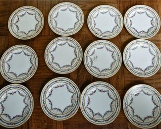 125. Twelve 12 BAILEY, BANKS,  BIDDLE English Side Plates wFloral Design