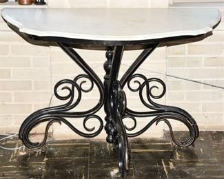 134. FINE RARE Bent Wood THONET Console Table