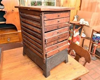 137. Antique Primitive Wooden Storage Unit