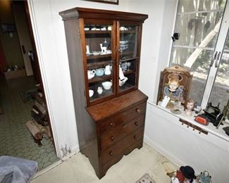 146. Antique Mahogany China Cabinet