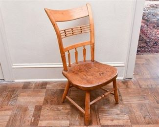 151. Antique Country Style Maple Side Chair