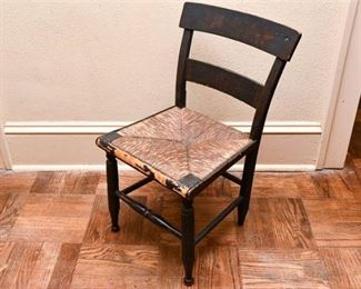 154. Antique Painted Maple Country Style Side Chair