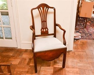 160. Antique Stained Oak Federal Style Armchair