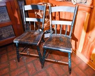 172. Pair Antique Country Side Chairs