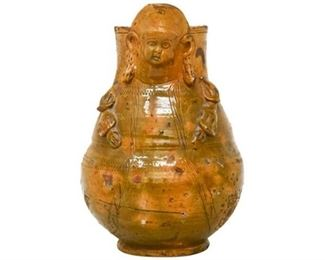 184. Glazed Face Jug
