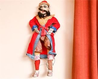 191. Vintage Hand Painted Puppet wMiddle Eastern Costume