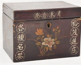 193. Fine Antique Japanese Lacquered Chinese Tea Box