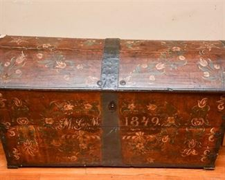 215. Hand Painted Antique Chest