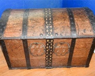217. Antique Chest with Painted Detail