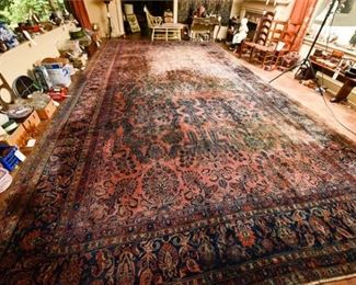 225. Palace Size Semi Antique Carpet