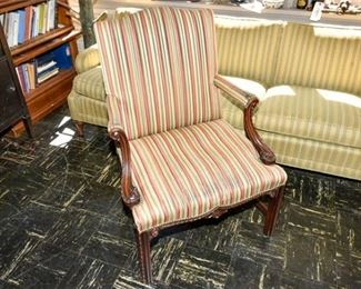 230. Mahogany Framed Library Chair