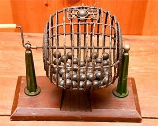 236. Antique Bingo Ball Cage