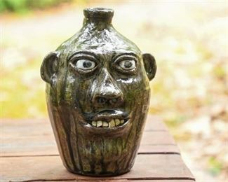 238. CLEATER MEADERS c.1984 Grotesque Ceramic Face Jug