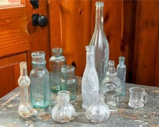 244. Antique and Vintage Glass Bottles