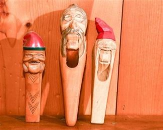 245. Three Wooden Nutcrackers