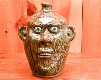 247. CLEATER MEADERS c.1984 Grotesque Ceramic Face Jug
