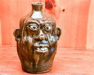250. CLEATER MEADERS c.1983 Grotesque Ceramic Face Jug