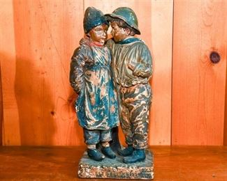 258. Terra Cotta Sculpture of Two Youths