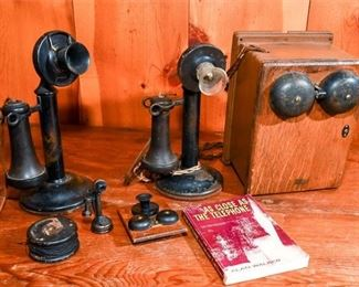 265. Two Antique Candlestick Telephones