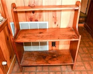 267. Antique Pine Graduated Wall Shelf