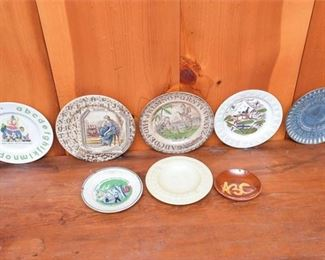 275. Antique and Vintage ABC Motif Plates