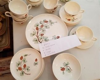 1950s Stetson Marcrest Winter Holiday Dinnerware