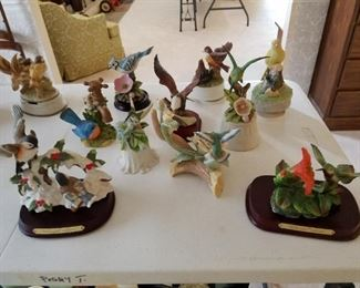 part of porcelain bird collection