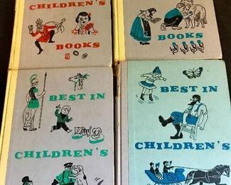"""""""1950's"""" hard back novels, """"Best Children's Books""""."""