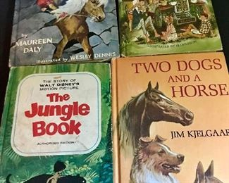 """""""1967"""" - The Jungle Book by Walt Disney Productions. Other hard back children's books."""