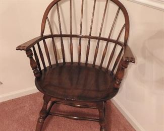 S. Bent & Brothers Windsor Chair w/paper label & brand