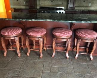 WE HAVE A TOTAL OF 6 OF THESE COUNTER HEIGHT SWIVEL STOOLS