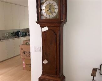 OLD ENGLISH 8 DAY LONG CASE CLOCK