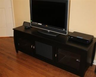 Black painted media console