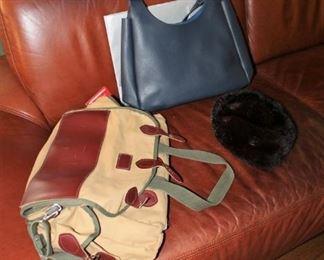 Designer bags and Orvis duffel / travel bag