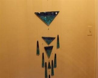 Art glass wall hanging