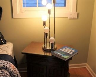 Vintage MCM chrome table lamp in the style of Robert Sonneman